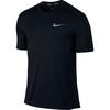 Nike Dry Miler Hardloopshirt korte mouwen Heren zwart